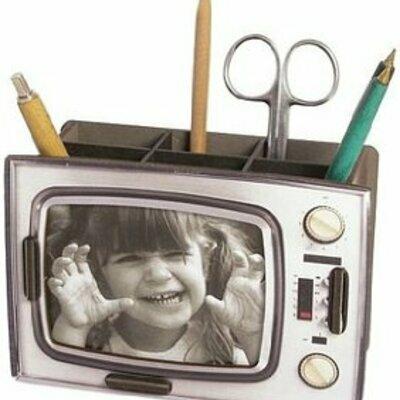 Planet drzac za olovke tv srebrni