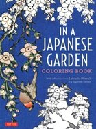 In japanese garden coloring book