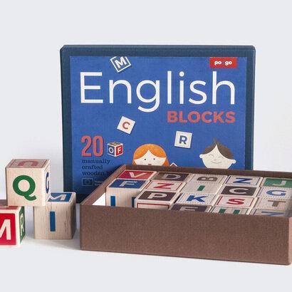 Drvene kocke engleska slovarica