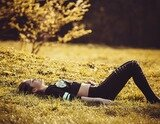 Girl lying on the grass 1741487 1920