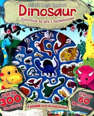 Dinosaur slikovnica za igru s naljepnicama