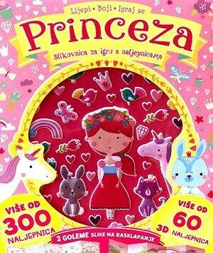 Princeza slikovnica za igru s naljepnicama