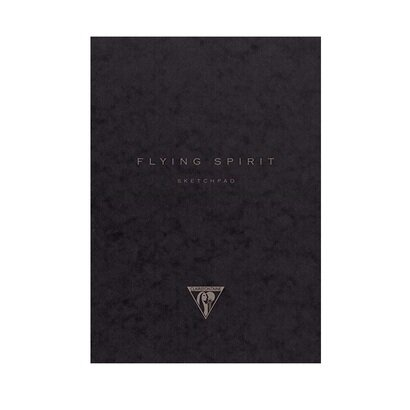 Clairfontaine biljeznica flying spirit skecthpad black 16 x 21 cm