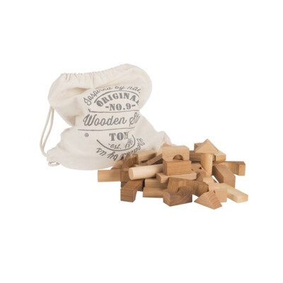 Drvene kocke 100kom natural u vrećici
