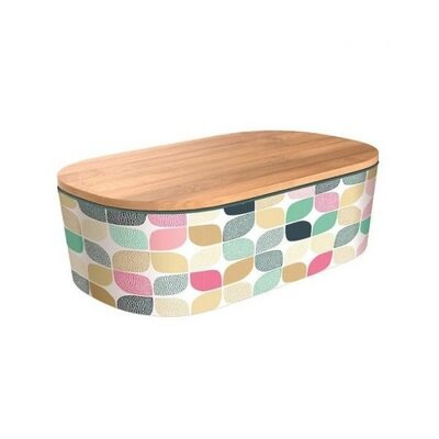 Deluxe bamboo kutija za ručak bright modern pattern