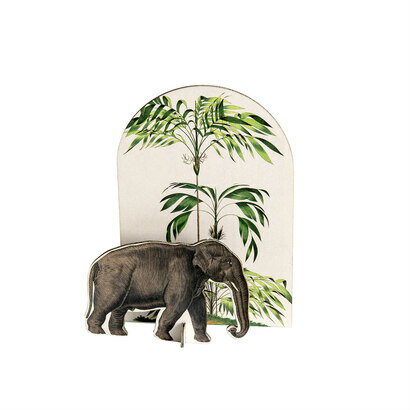 Pop out čestitka i ukras tropical elephant