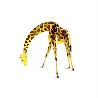 Pop out čestitka i ukras žirafa