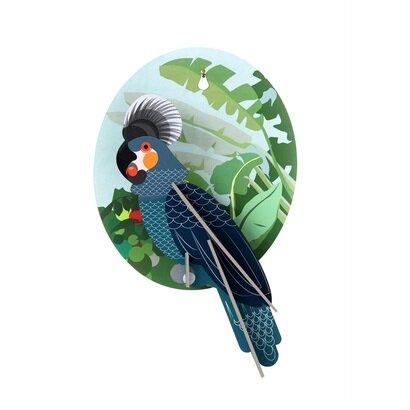 Zidni dekor siva papiga
