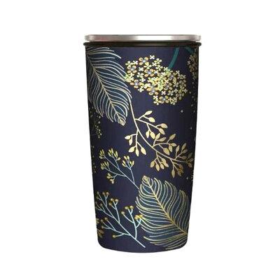 Šalica od bambusa s kliznim poklopcem golden leaves