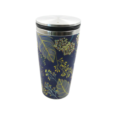 Šalica od bambusa s kliznim poklopcem golden leaves 1