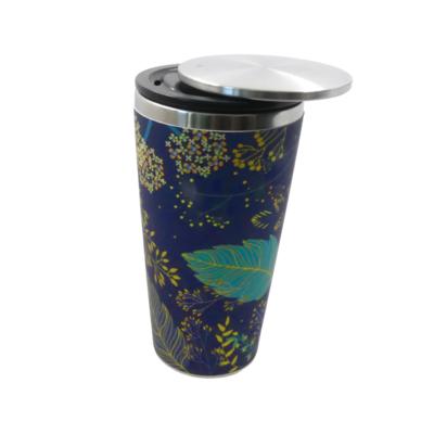 Šalica od bambusa s kliznim poklopcem golden leaves 2