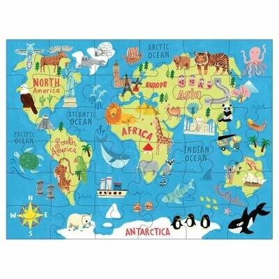 Puzzle to go karta svijeta 1