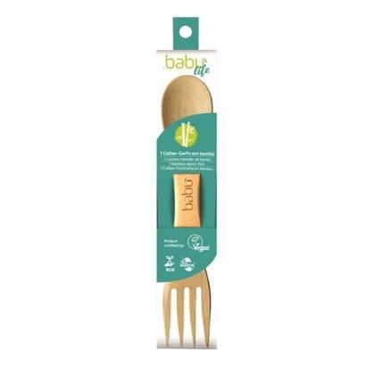 Vilica i zlica od bambusa 2u1