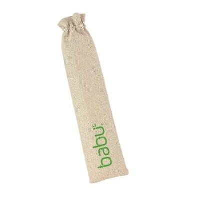Slamke od bambusa 4 kom s četkicom za čišćenje 1