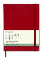 Weekly notebook planner red 19×25