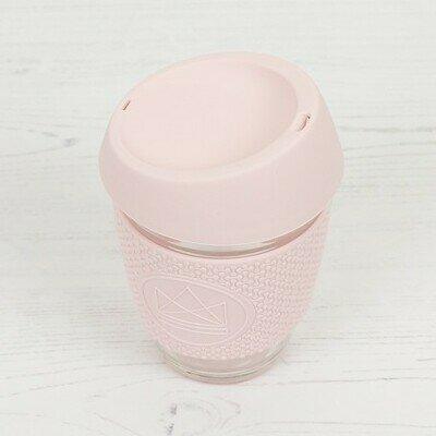 Neon kactus glass cup 340ml pink flamingo pink (1)
