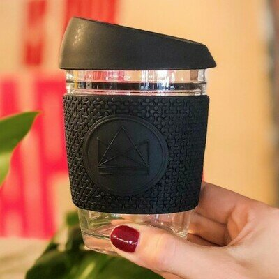 Neon kactus glass cup 340ml rock star black (2)