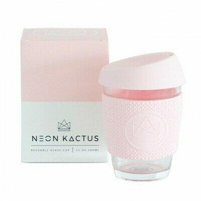 Neon kactus glass cup 340ml pink flamingo pink