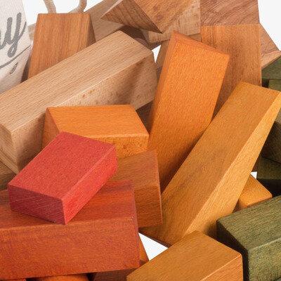 Drvene kocke 50kom duga u vrećici 1