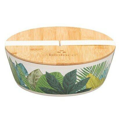 Ovalna deluxe bamboo kutija za ručak lisce