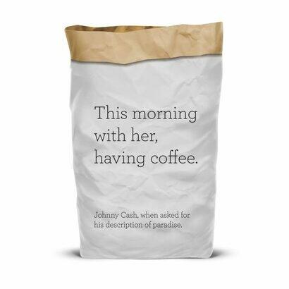 Vreća za recikliranje papira this morning with her