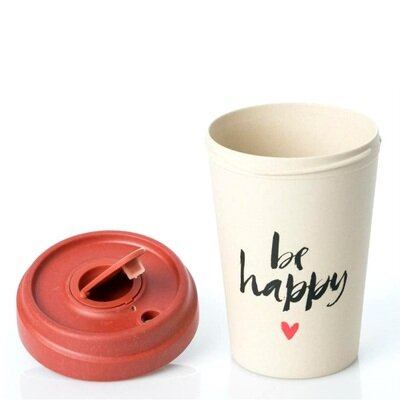 Šalica od bambusa chic mic be happy 1