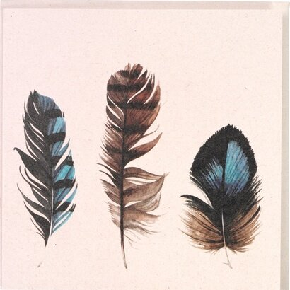 Čestitka feathers