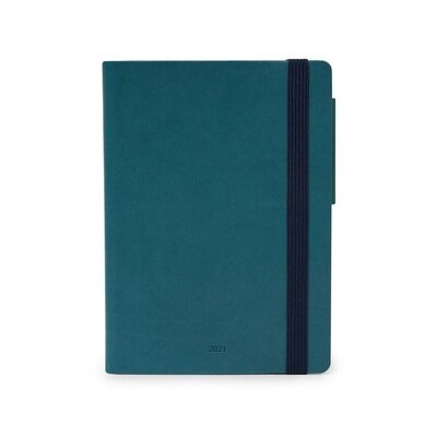 Planer dnevni 9 5 × 13 5 cm petrolej plavi