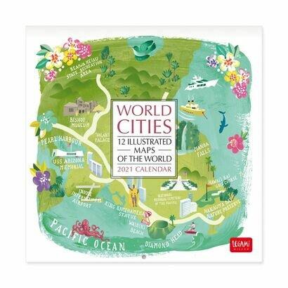 Kalendar 2021 svjetski gradovi 18 × 18 cm