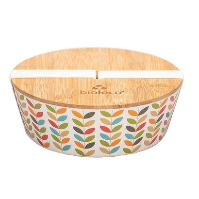 Ovalna deluxe bamboo kutija za ručak leaves