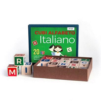 Drvene kocke talijanska slovarica