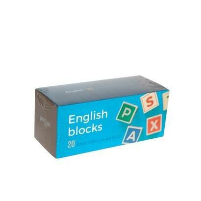 Drvene kocke engleska slovarica meko pakiranje