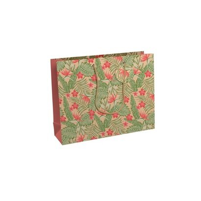 Poklon vrećica kraft tropical 37,3 x 27 5 x 11 8 cm
