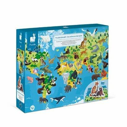 Edukativne puzzle ugrožene životinjice