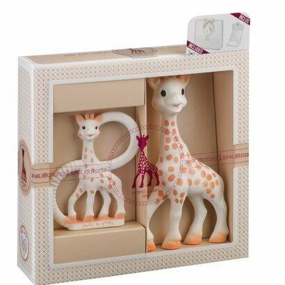 Poklon pakirnje žirafa sophie s prstenom za zubiće