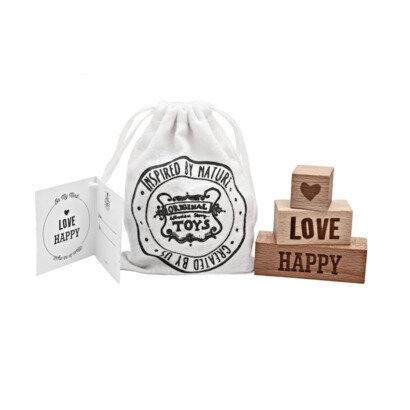 Drvene kocke happy love