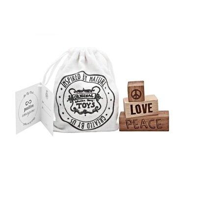 Drvene kockice peace love