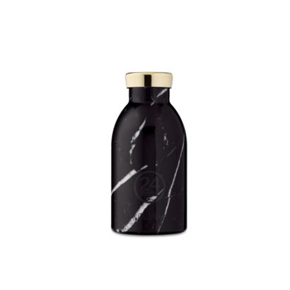 Termos boca 24bottle marble black 330 ml
