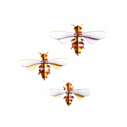 Zidni dekor pčele set of 3 komada