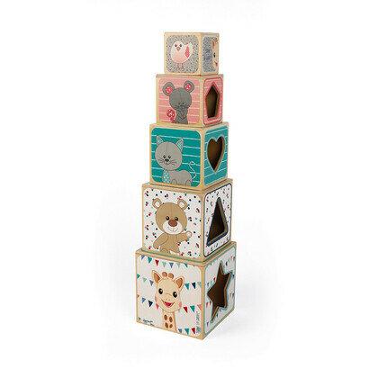 Drvena piramida za slaganje sophie žirafa