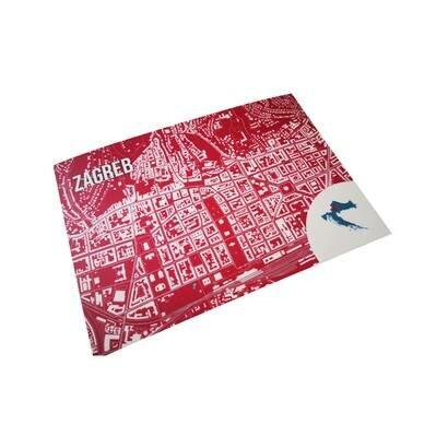 Razglednice karta zagreba set od 4 kom