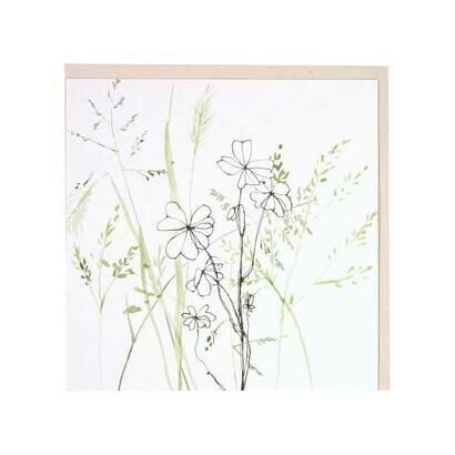 Čestitka clover and grass