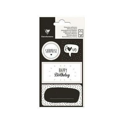 Naljepnice happy birthday black 1