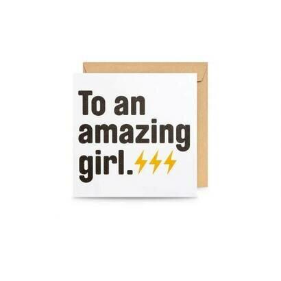 Čestitka amazing girl