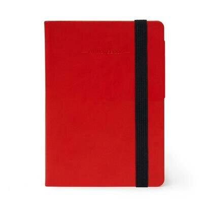 Legami bilježnica s crtama crvena