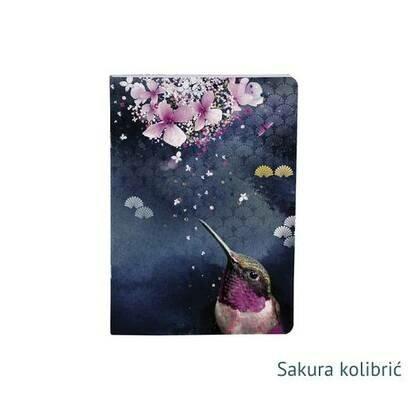 Clairefontaine bilježnica sakura dream a5 klamani uvez