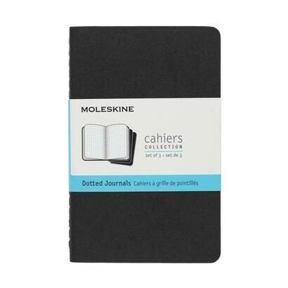 Bilježnica cahier točke crna set od 3