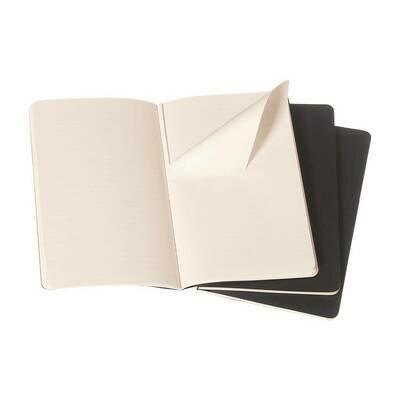 Bilježnica cahier s crtama crna set od 3 1