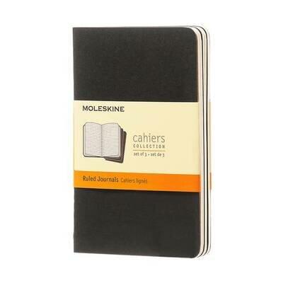 Bilježnica cahier s crtama crna set od 3