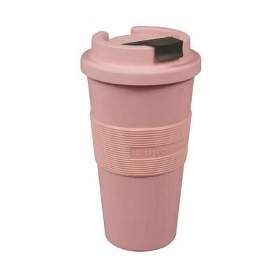 Šalica od bioplastike lollipop ružičasta velika